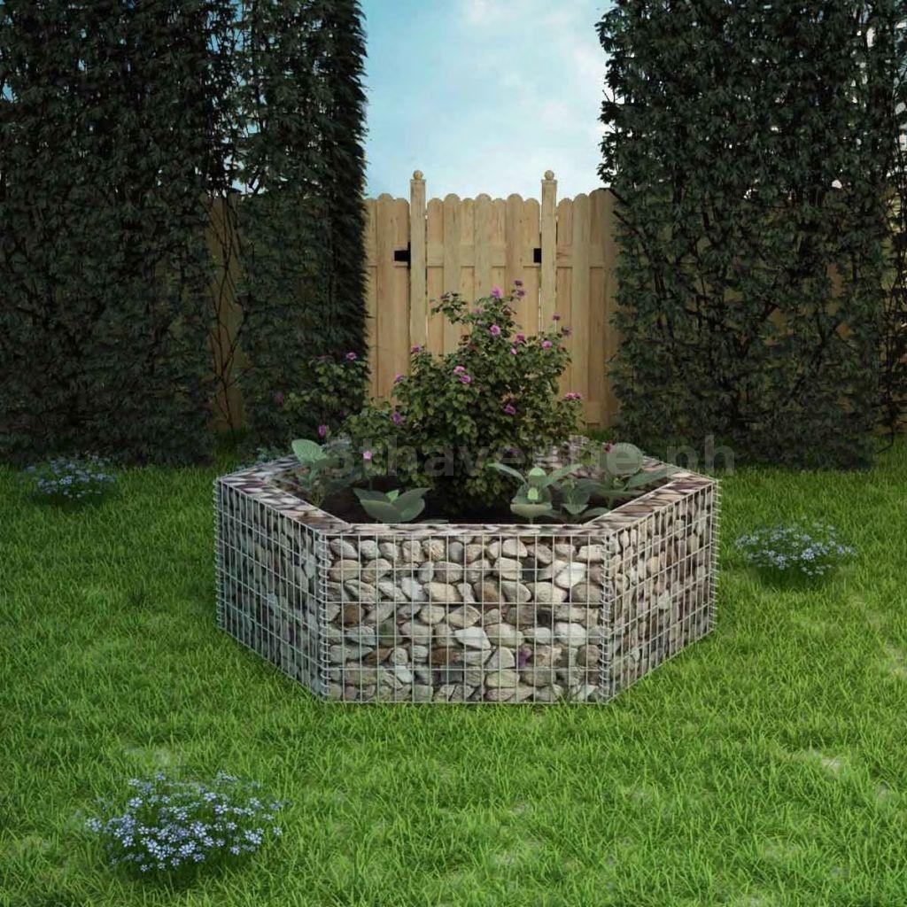 Gabione Pflanzenkorb 160x139x50cm Steinkorb Drahtkorb Blumentopf