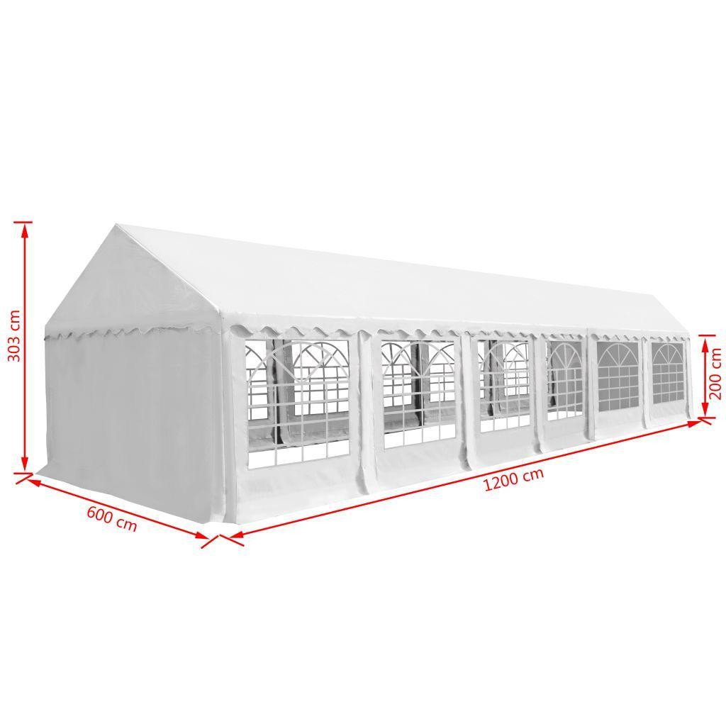 Partyzelt PVC 6x12 m Weiß X1V6 | eBay