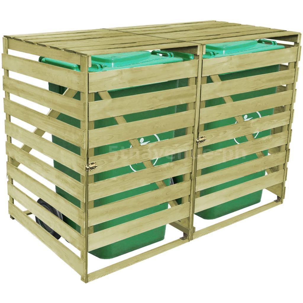 m lltonnenbox 2 tonnen impr gniertes holz kiefernholz m lltonnenverkleidung v9z6 ebay. Black Bedroom Furniture Sets. Home Design Ideas